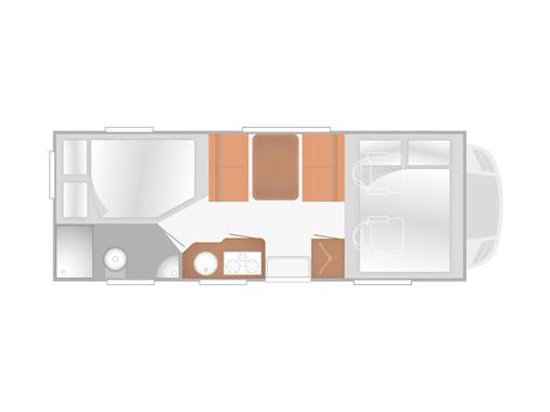 Alkoven Wohnmobil kaufen bei Erlangen, Rimor Katamarano 3