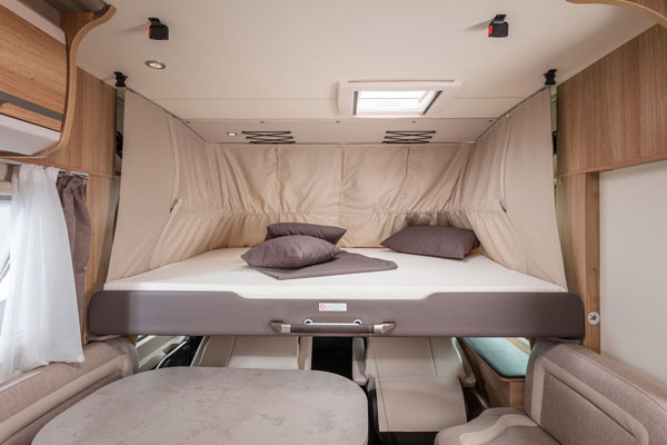 Premium Kategorie Wohnmobil Hubbett